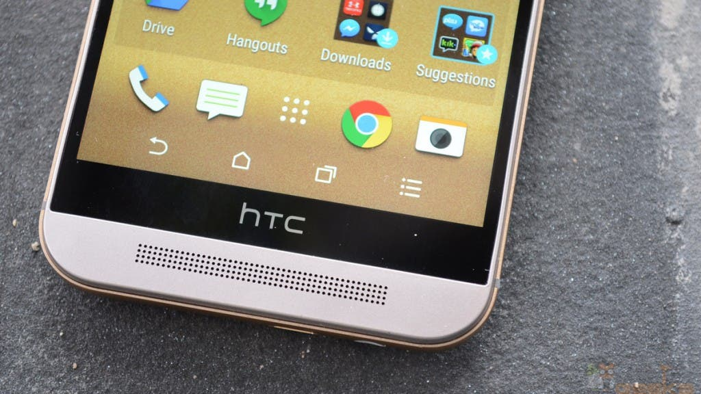 HTC One M9: Blick auf untere Display-Hälfte mit Onscreen-Buttons