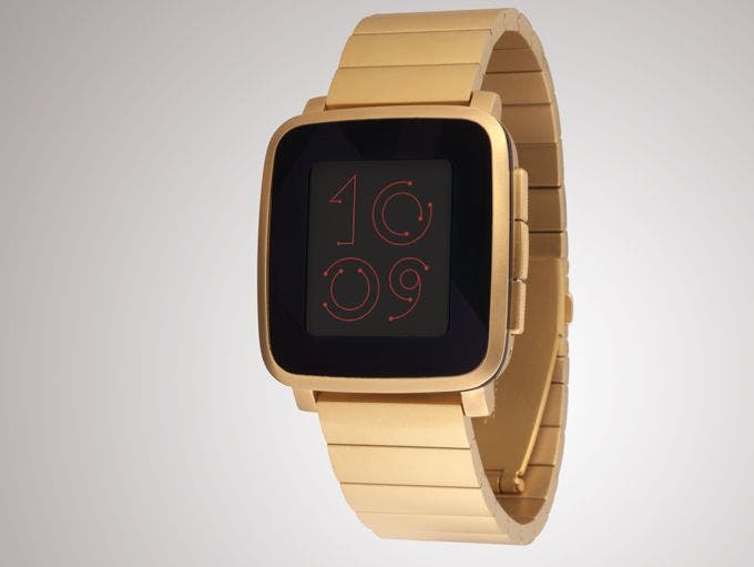 Gold Pebble Time Steel with gold metal band