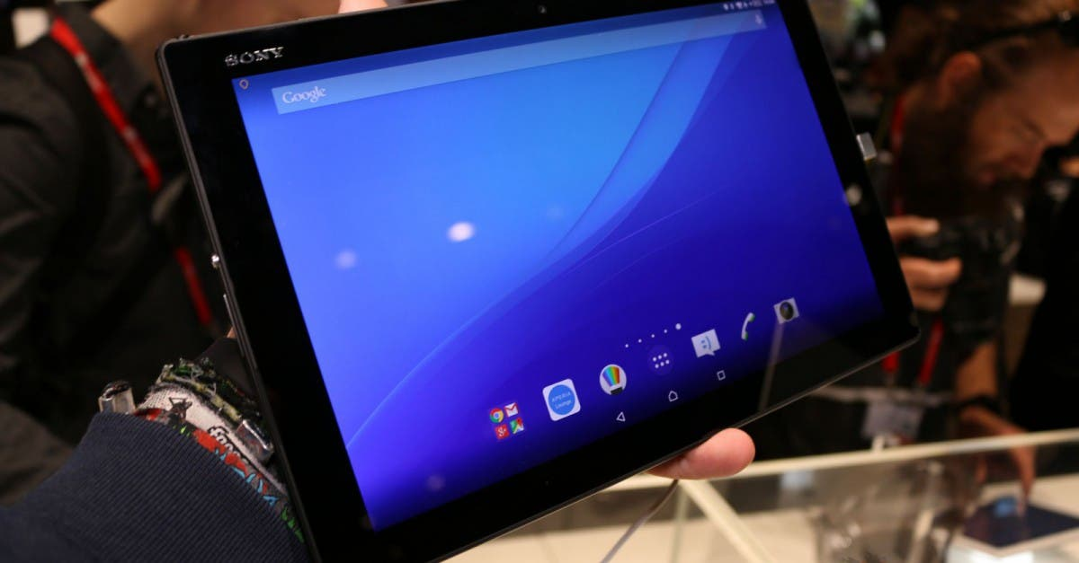 sony xperia z4 tablet mit snapdragon 810 im hands on video. Black Bedroom Furniture Sets. Home Design Ideas