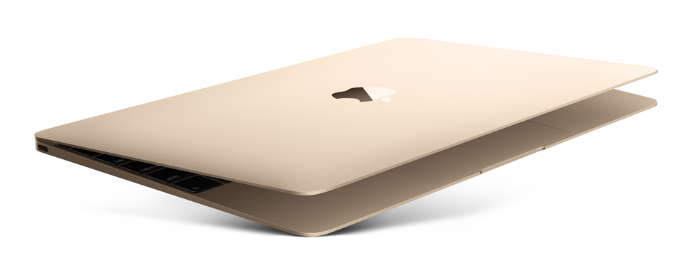 Das neue MacBook in Gold