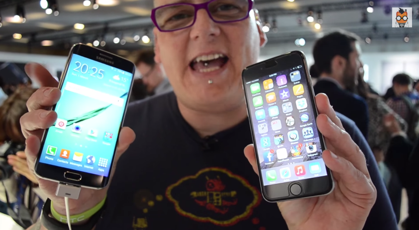 Samsung Galaxy S6 Edge und Apple iPhone 6 im direkten