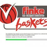 finke baskets-Logo + Windows Update-Ladebalken