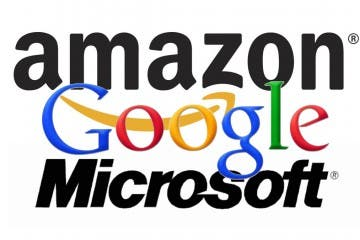 Amazon-Google-Microsoft: Logo-Collage