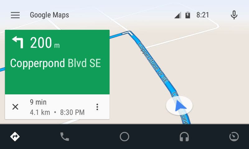 Android Auto - Navigations-Modus