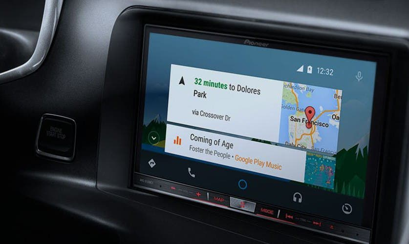 Android Auto - Blick aufs Pioneer-Display