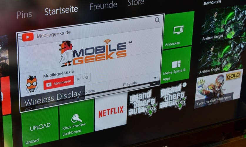 Wireless Display App für die Xbox One