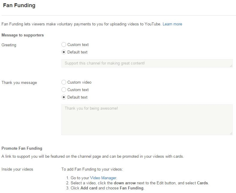 Fan Funding Youtube 3