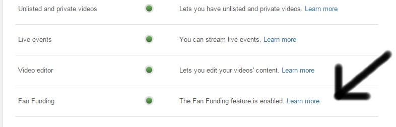 Fan Funding Youtube