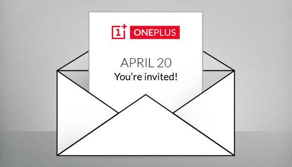 "OnePlus: Briefumschlag mit Termin 20. April und ""You're Invited""-Statement"