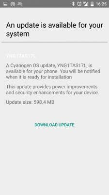 OnePlus One Cyanogen Update 02