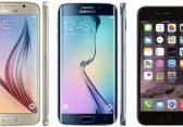 Samsung Galaxy S6, S6 Edge und Apple iPhone 6 im Display Test