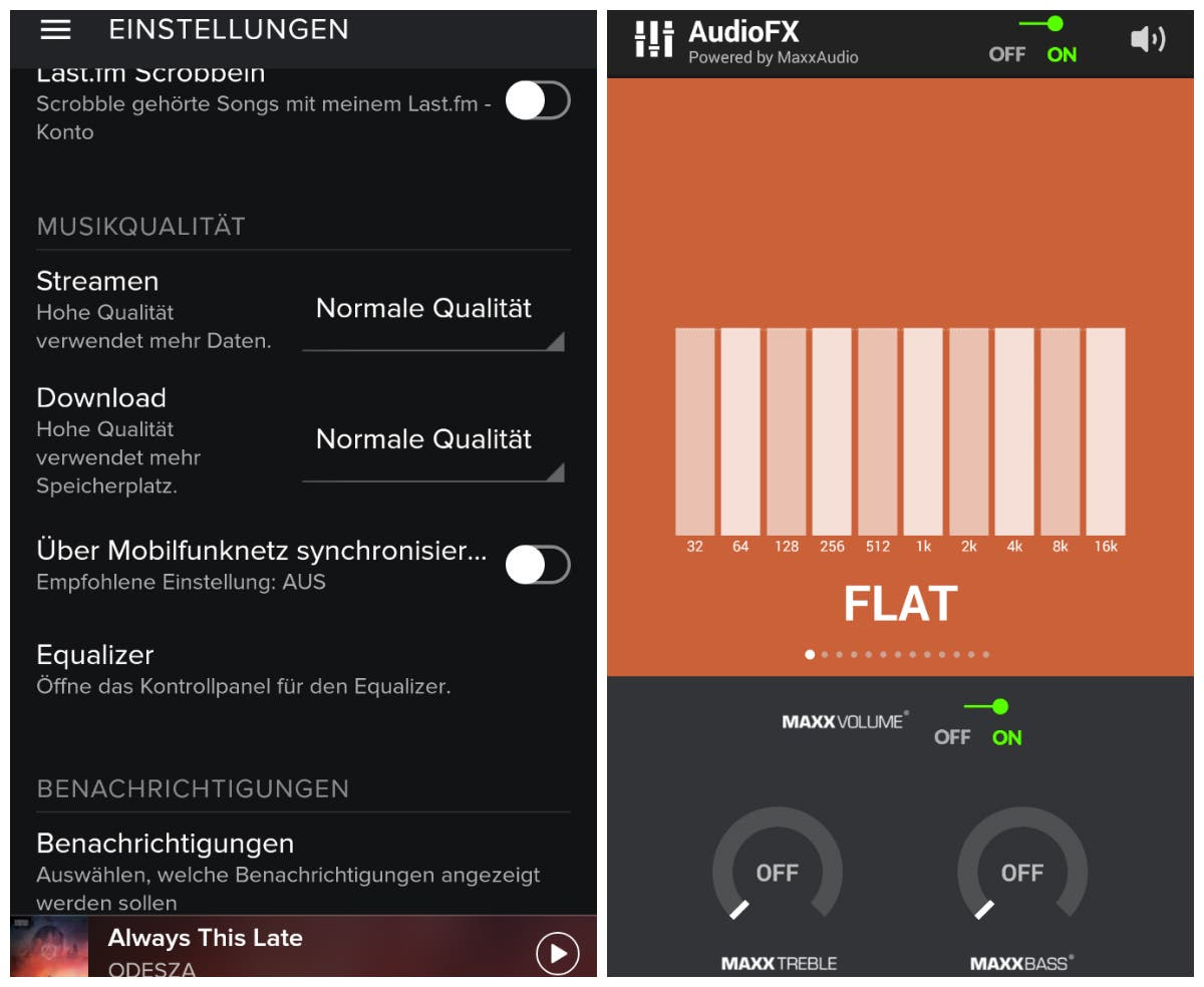 equalizer android spotify
