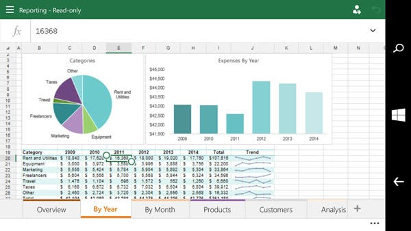 Die Excel Preview for Phones