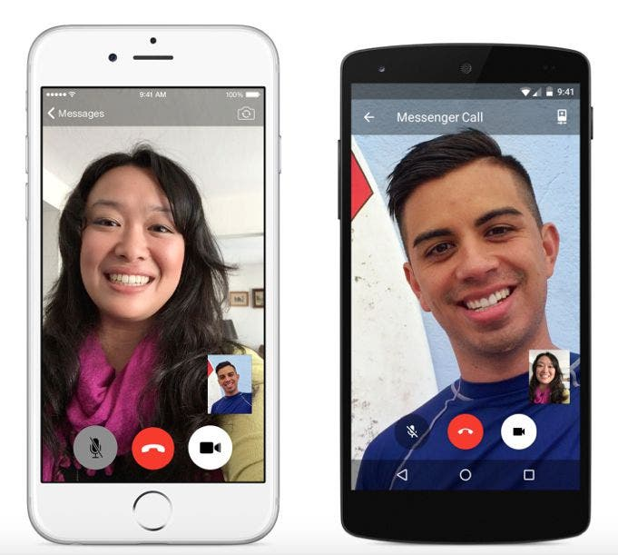 Interface der Video-Telefonie Funktion vom Facebook Messenger