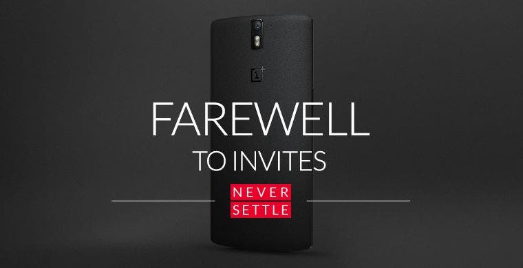 OnePlus One - Farewell to Invites