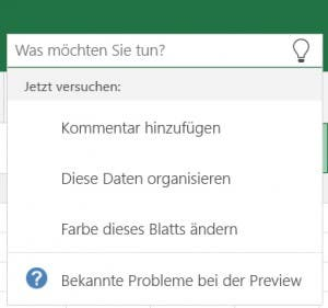 Excel Touch - Funktionssuche