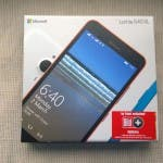 Box Lumia 640XL Frontseite