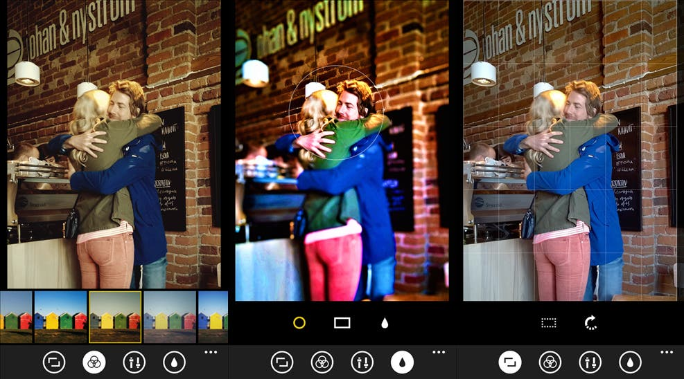 Lumia Creative Studio Screenshots auf dem Windows Phone