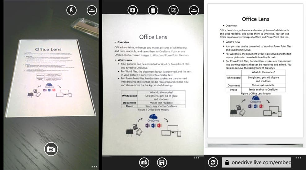 Office Lens Screenshots Windows Phone
