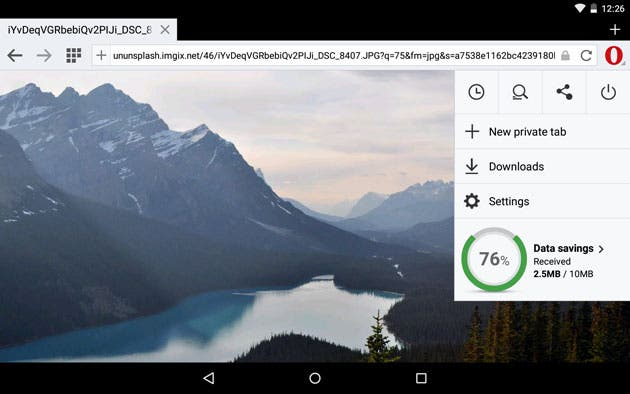 Android: Opera Mini Browser mit dickem Update