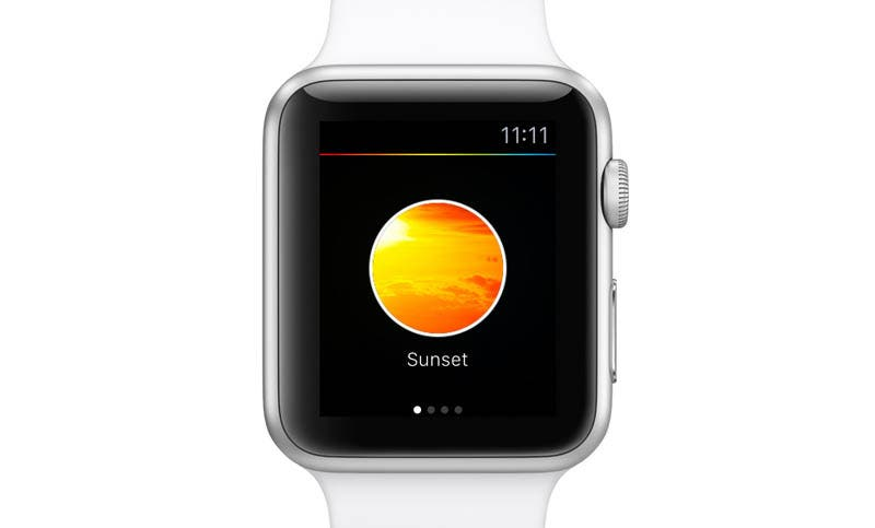 "Philips ""Hue""-App auf der ""Apple Watch""."