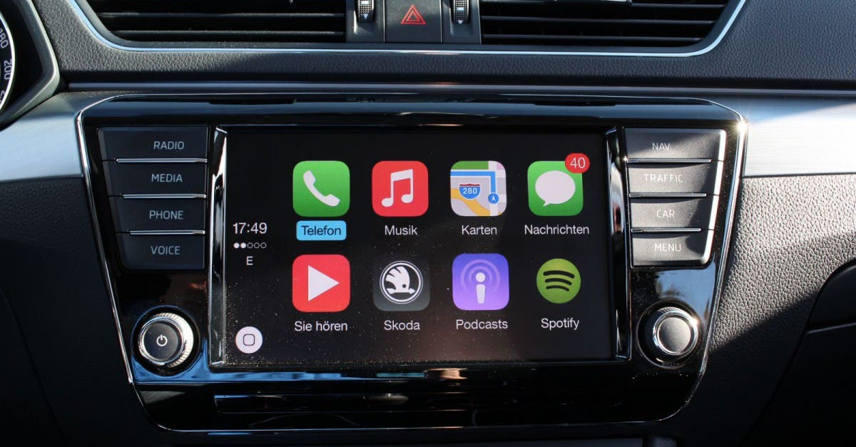 angetestet apple carplay im neuen skoda superb 2015. Black Bedroom Furniture Sets. Home Design Ideas