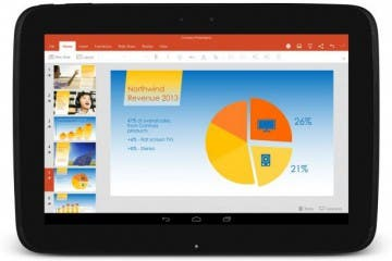 PowerPoint auf Android-Tablet