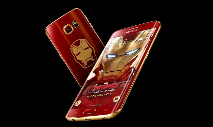 Galaxy S6 edge Iron Man Limited Edition: Vorder- und Rückseite