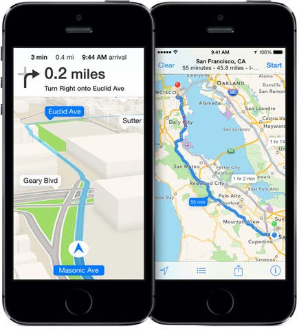 Apple Maps auf dem iPhone