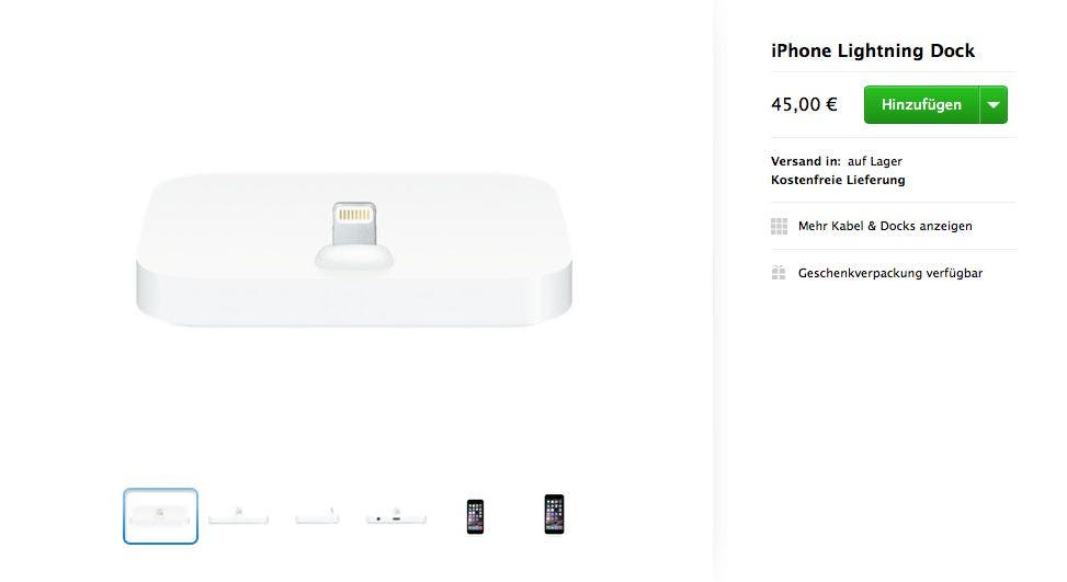 Screenshot der Produktseite im Apple Store