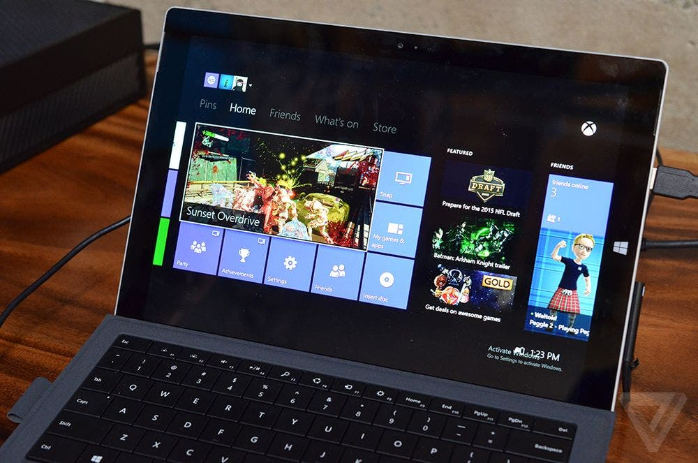 Xbox One Game Streaming auf dem Surface mt Windows 10
