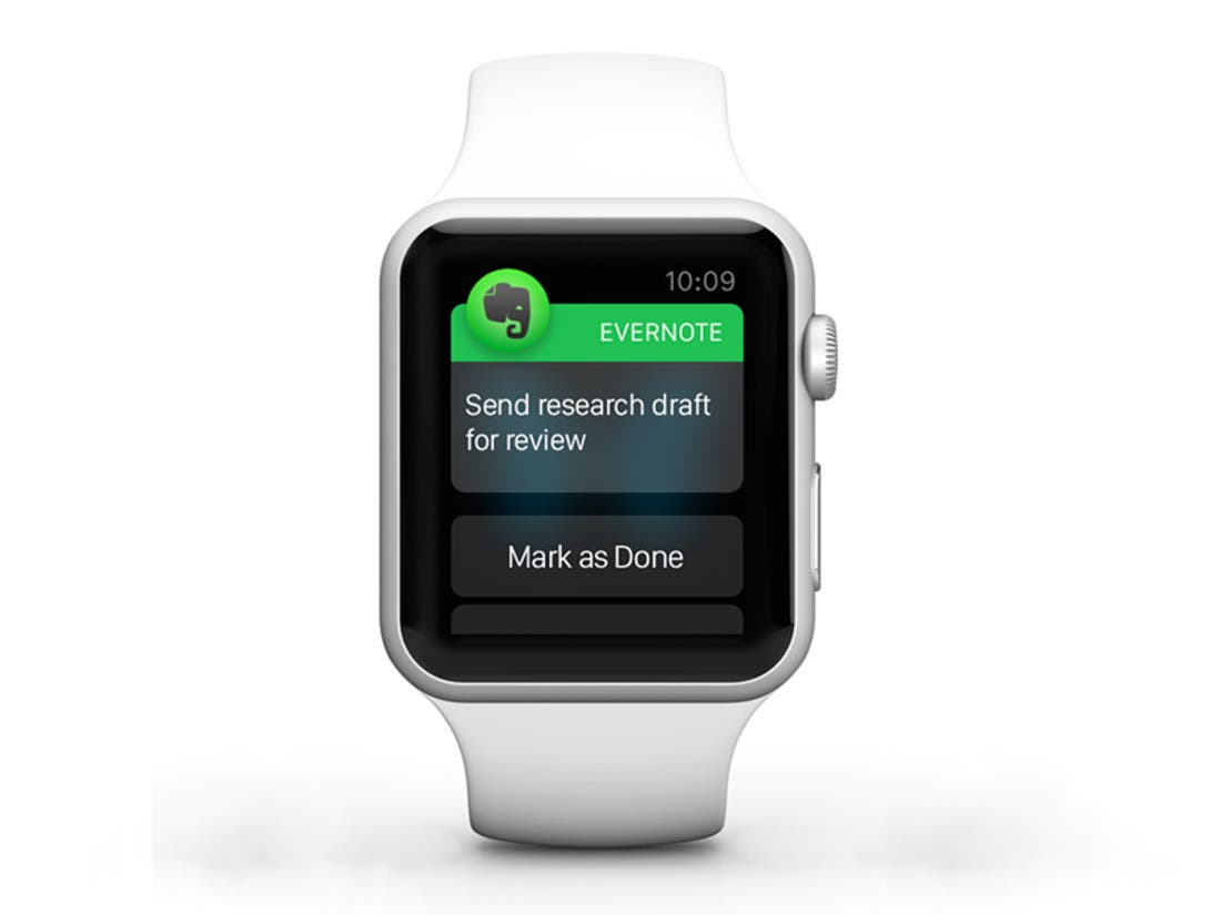 Evernote Apple Watch