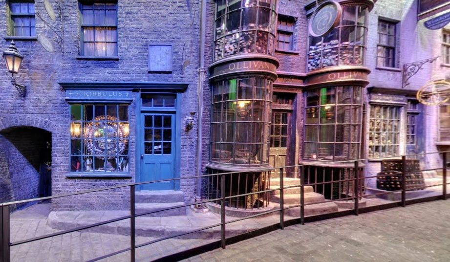 Olivander-Kulisse in den Warner Bros. Studios in London