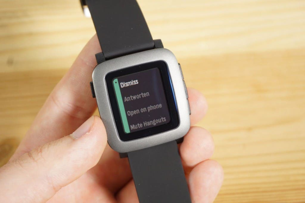 Pebble Time Antworten