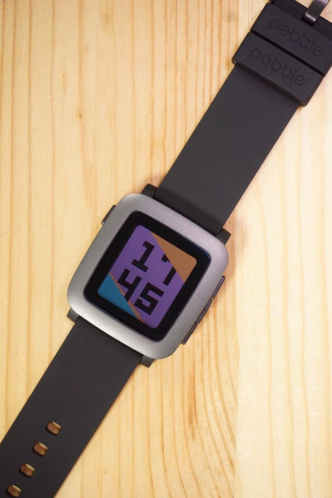 Pebble Time farbiges Watchface