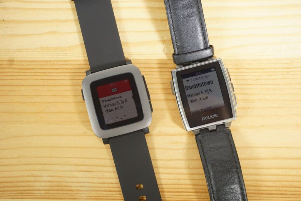 Pebble Time vs Pebble Steel Vergleich Display