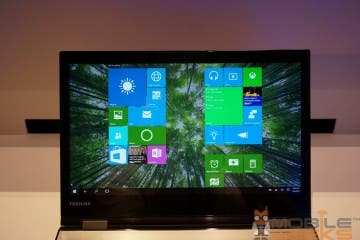 Toshiba Satellite Ultrabook - Blick aufs Display