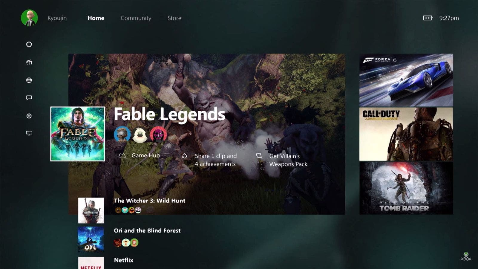 Xbox One Windows 10 Dashboard