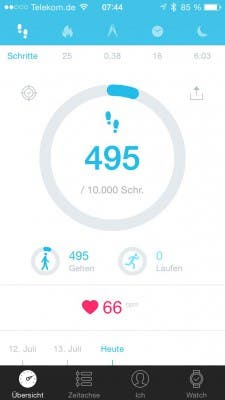 Alcatel One Touch Watch - Move App - Schritte