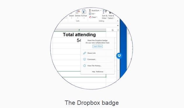 Dropbox badge