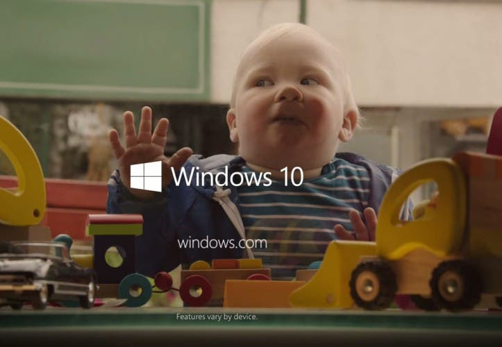 Windows 10 Werbung mit ganz viel suessen Babies – The future starts now
