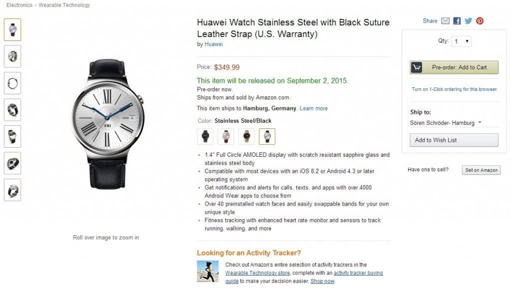 Huawei Watch Stainless Steel 12