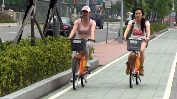 Youbikes in Taipeh