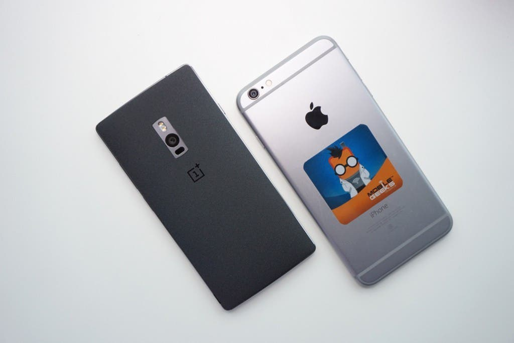 oneplus 2 vs iphone 6 plus rückseite