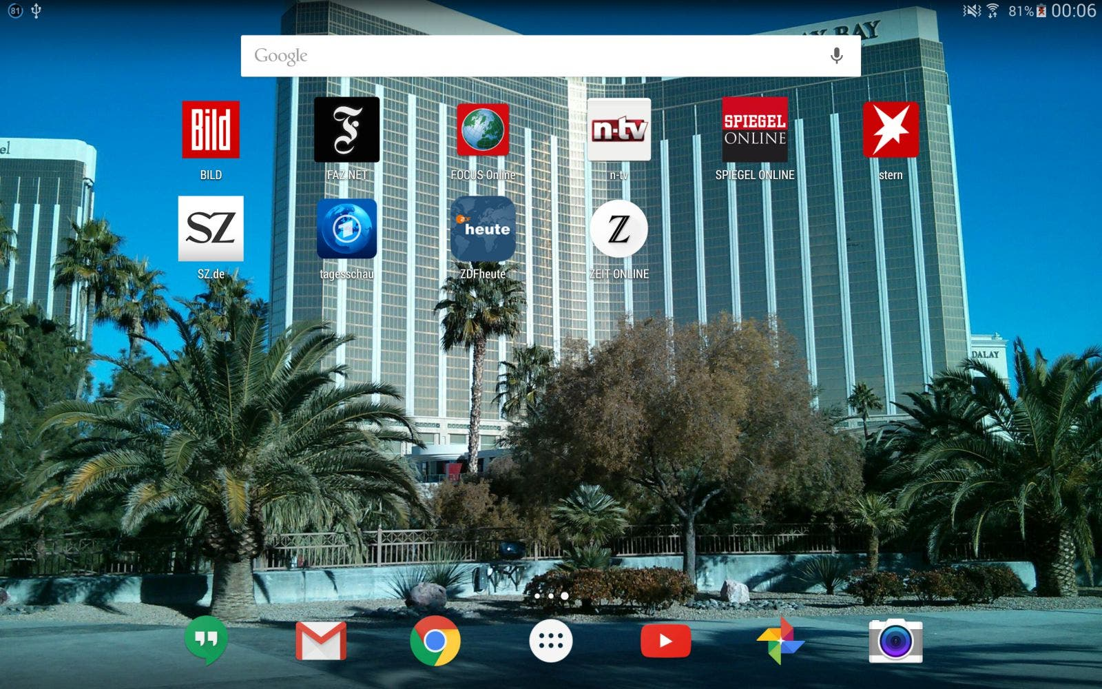 tablet news apps
