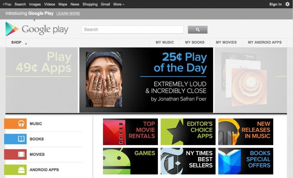Google Play Store 2012