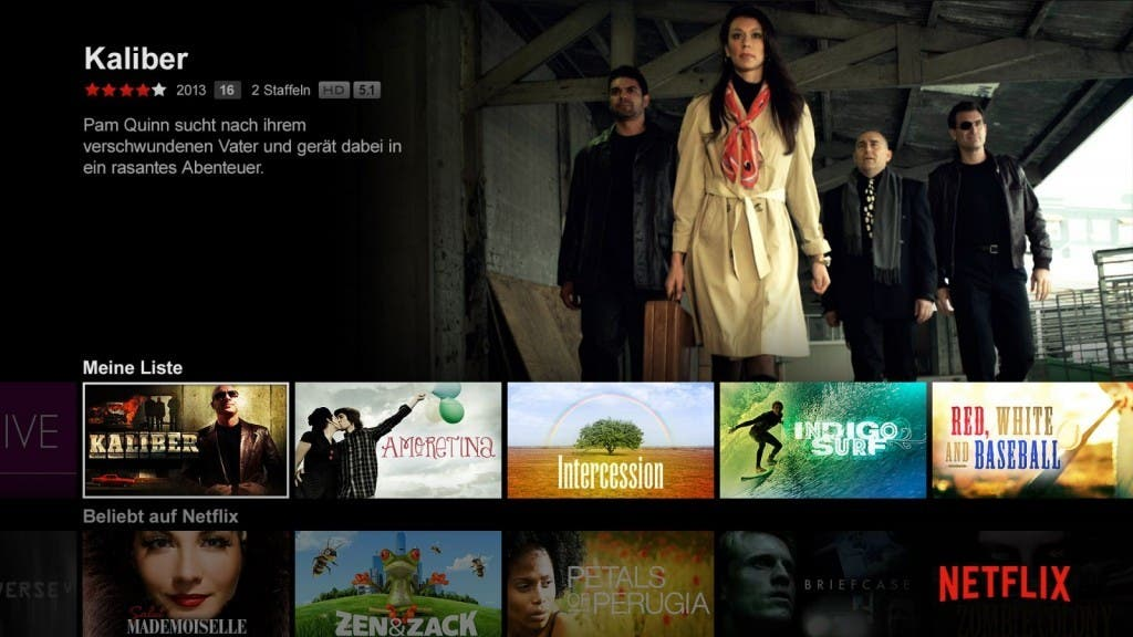 Screenshot: Netflix für Fire TV