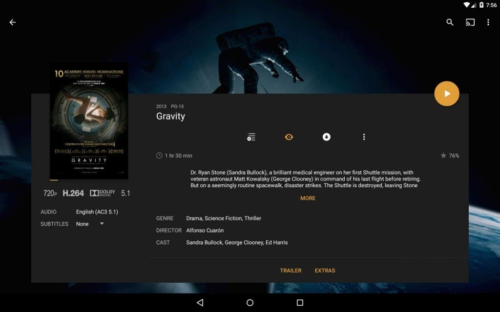 Screenshot: Plex für Fire TV