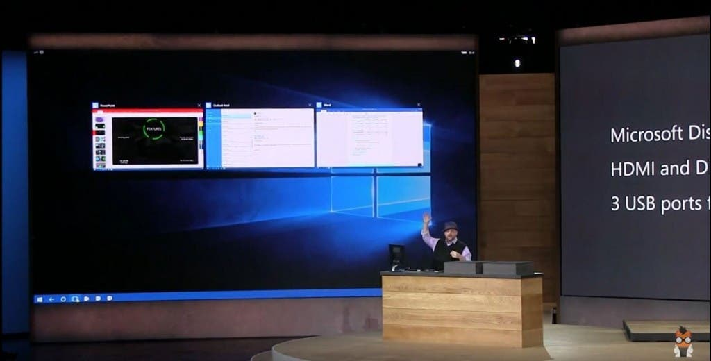 Microsoft Display Dock Präsentation - Tast-Switcher - Screenshot