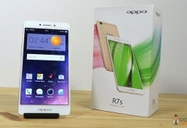 OPPO R7s mit Verpackung